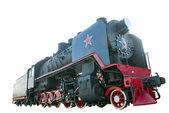 The Soviet steam locomotive — Stock Photo