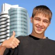 Teenager with thumb up — Stock Photo #1326465