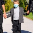 Kid in the flu mask — Stock Photo #1327040