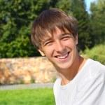 Happy teenager outdoor — Stock Photo #1329238