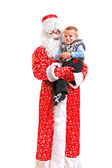 Santa claus and kid — Stock Photo