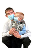 Young man and kid — Stock Photo