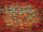 Convex brick wall — Stock Photo