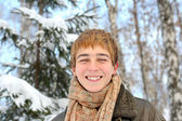 Teenager in winter — Stock Photo