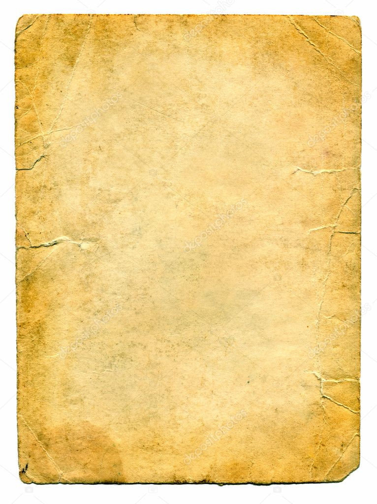 Old Paper Isolated on the white — Stock Photo #1327627