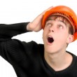 Stock Photo: Teenager in hard hat