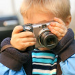 young photographer — Stock Photo