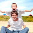 Happy teenager and kid — Foto Stock