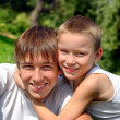 Happy teenager and kid — Stock Photo #1331744