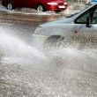 Car in floods — Stock Photo