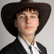Teenager in stetson hat — Stock Photo #1333456