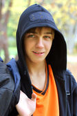 Teenager in park — Stock Photo