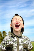 The shouting child — Stock Photo