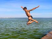 Happy jump — Stock Photo