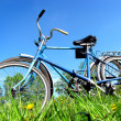 Stock Photo: Two old bicycle