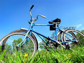 Two old bicycle — Stock Photo