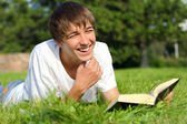 Teenager with a book — Stock Photo
