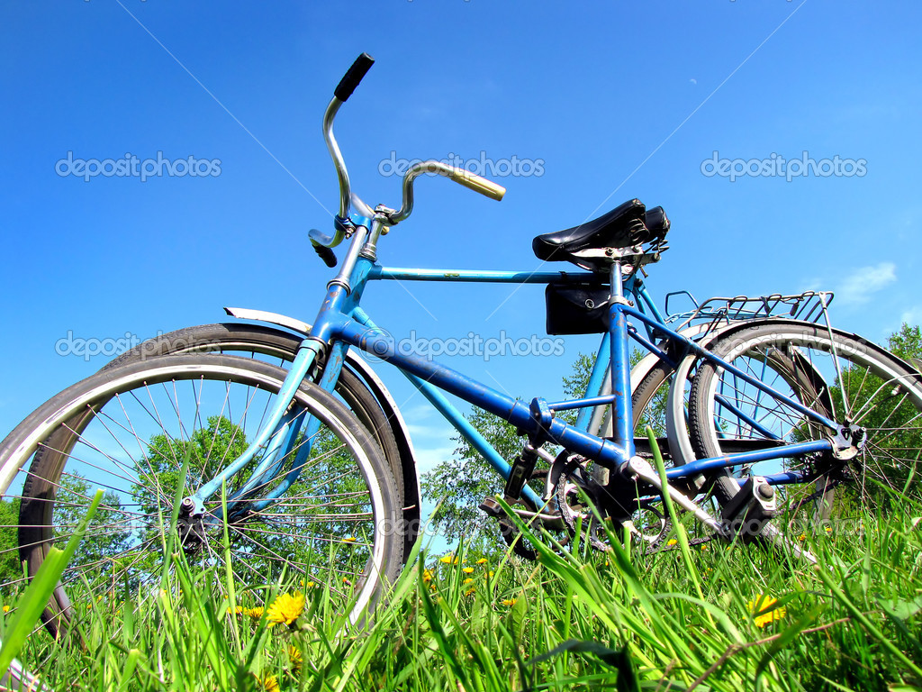 Two old bicycle on the grass           — Stock Photo #1657458