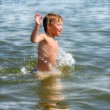 Kid in the water — Stock Photo