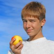 Boy and apple — Stock Photo #1792740