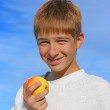 Boy and apple — Stock Photo #1792774