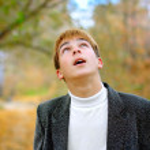 Teenager look upwards — Stock Photo #1793752
