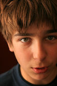 Boy face close up — Stock Photo