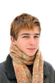 Winter teenager portrait — Stock Photo