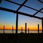 Seaside evening landscape — Stock Photo