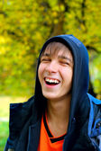 Laughing teenager — Stock Photo