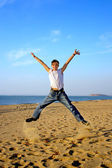 Teenager jumping — Stock Photo