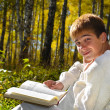 Boy with a book — Stock Photo