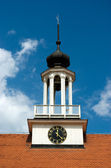 Lutheran church bell tower — Stock Photo