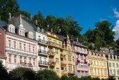 Karlovy Vary House Facades — Stock Photo