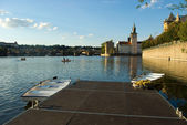 Summer evening on Vltava — Stockfoto