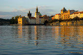 Summer evening on Vltava — Foto Stock