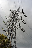 Power line pylon — Stock Photo