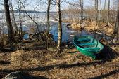 Spring water landscape: Vuoksi river — Stock Photo