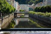 Karlovy Vary city landscape — Stock Photo