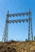 Pylon of power lines — Stock Photo