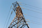 Power line pylon top — Stock Photo