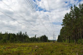 Electric power line — Stock Photo