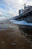 Baltic sea embankment in Svetlogorsk — Stock Photo