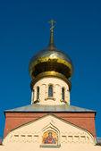 Russian orthodox church cupola — Stock Photo