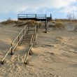 Sandy seacoast of Curonian spit — Stock Photo