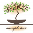 Royalty-Free Stock Vector Image: Small bonsai tree background.