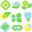 Stockvektor : Ecological icons.