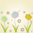 Floral background for greeting card. - Imagen vectorial