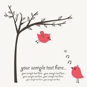 Fåglar serenad — Stockvektor