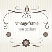 Vintage frame for greeting card. — Cтоковый вектор